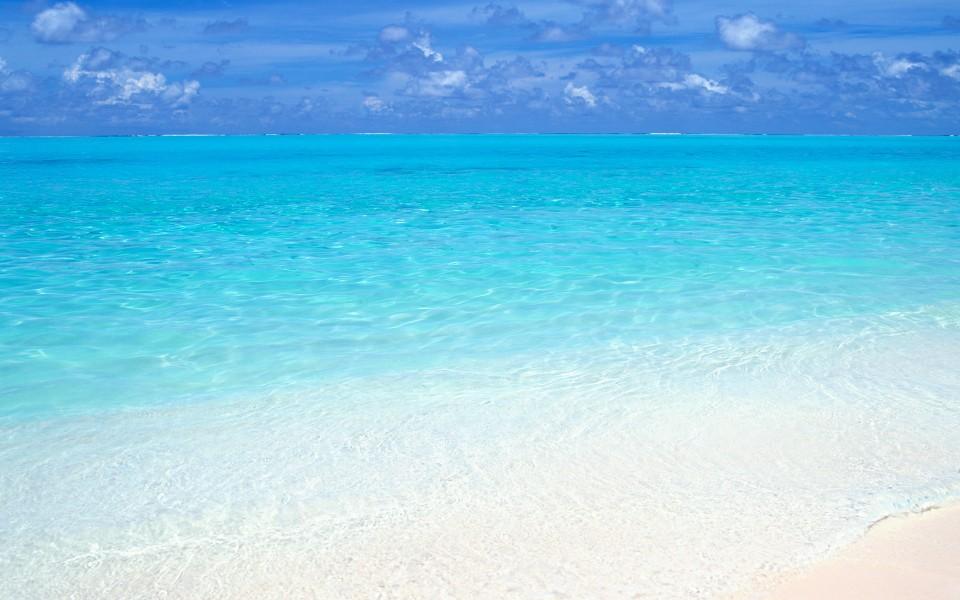 笔记本壁纸 海滩壁纸 马尔代夫沙滩桌面壁纸下载