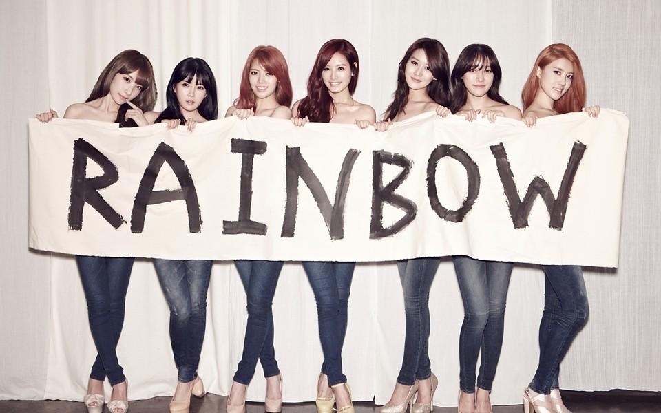 韩国组合rainbow桌面壁纸