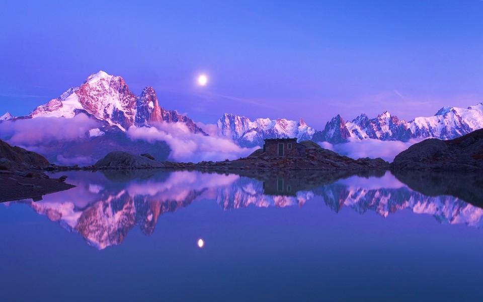 电脑壁纸 自然风景壁纸 阿尔卑斯山美景桌面高清壁纸下载   (2/11) 小