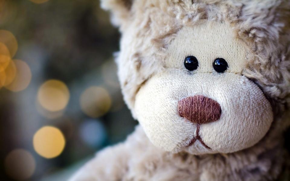 电脑壁纸 可爱壁纸 忧伤的泰迪熊桌面下载