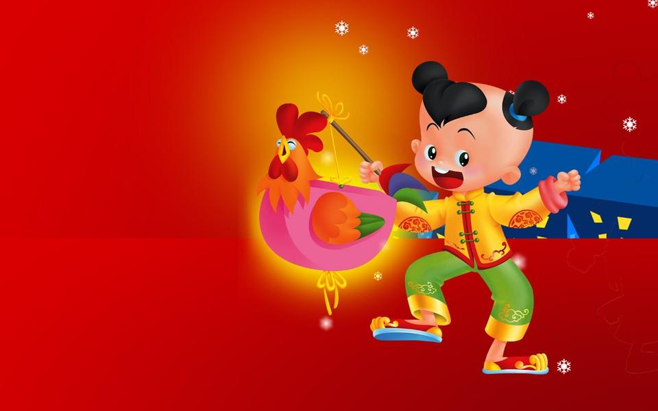 卡通春节背景素材