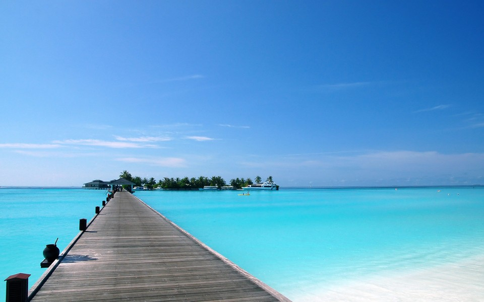 海滩高精度宽屏风景壁纸