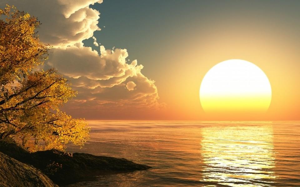 电脑壁纸 自然风景壁纸 海边日落晚霞高清桌面壁纸下载   (11/19) 小