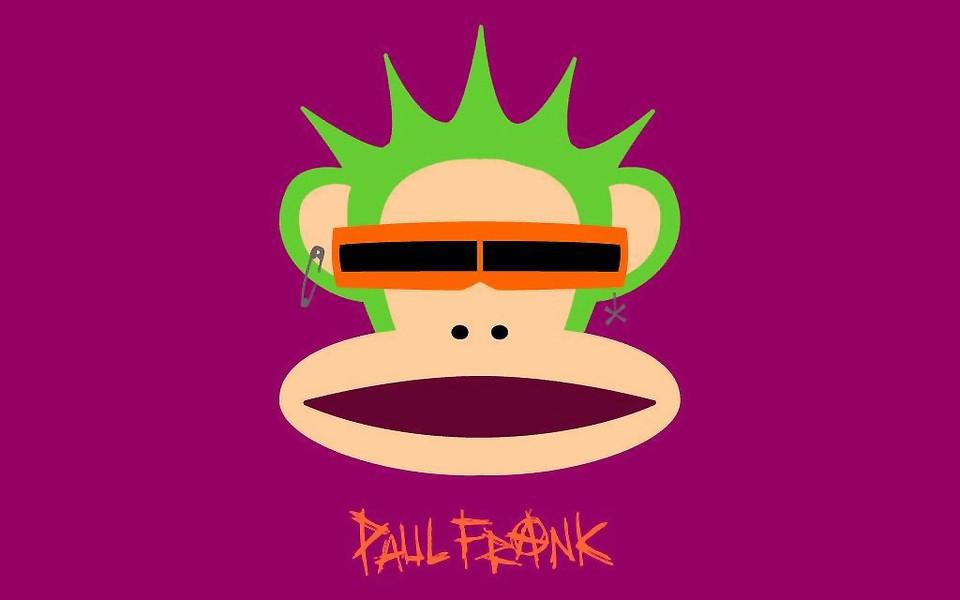 可爱的大嘴猴paul frank桌面壁纸