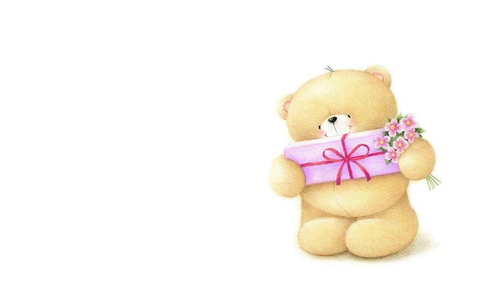 可爱小熊高清电脑壁纸下载