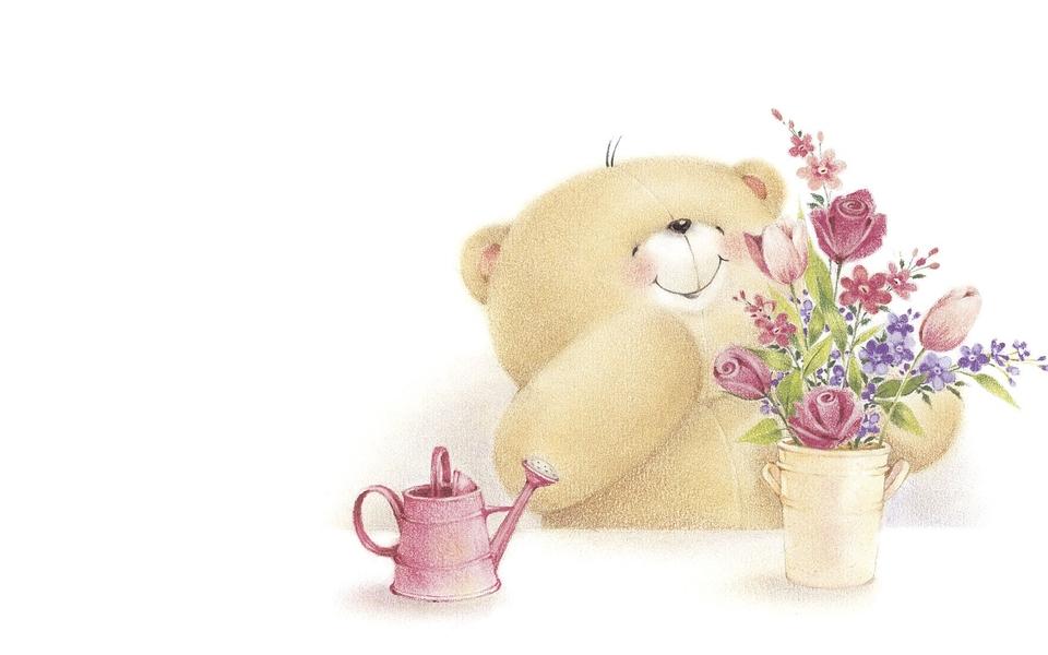卡通壁纸 可爱小熊高清电脑壁纸下载