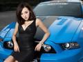 福特野马GT美女模特壁纸