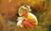 童年时光油画精选可爱壁纸
