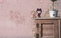 小左小右可爱的漫画桌面壁纸