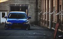 蓝色三菱Lancer Evolution壁纸