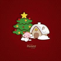 MOGOO蘑菇点点圣诞节iPad壁纸