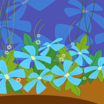 精美花卉设计iPad壁纸