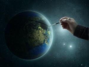 安卓高清 设计 美景 星球 创意手机壁纸