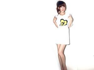 安卓叶梓萱 长腿 美女 模特 写真手机壁纸
