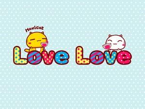 安卓卡通 爱情卡 爱情 哈咪猫手机壁纸