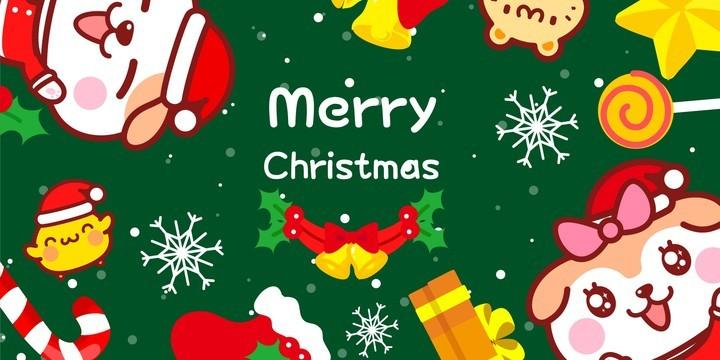 秋田君圣诞桌面壁纸
