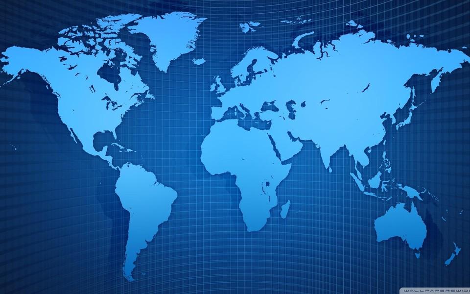 电脑壁纸 其他壁纸 世界地图高清壁纸桌面下载