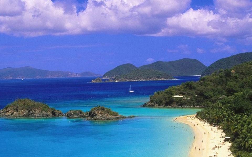 加勒比海风景ipad壁纸