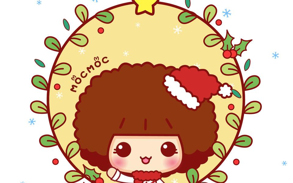 ipad壁纸 卡通壁纸 摩丝摩丝圣诞ipad壁纸下载
