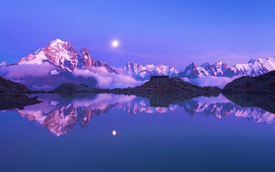 阿尔卑斯山风景高清壁纸