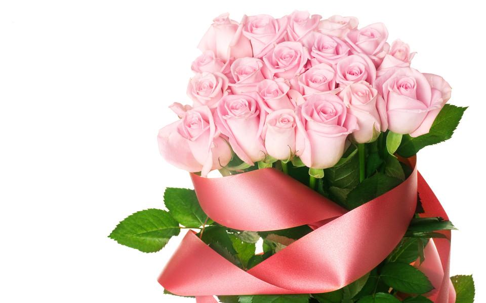 电脑背景玫瑰花-粉色玫瑰高清壁纸图片