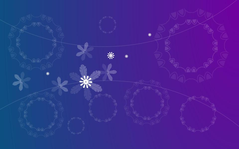 蓝色花纹箭头素材