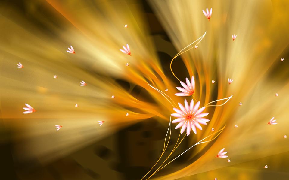 电脑壁纸 创意壁纸 手绘鲜花精美桌面壁纸下载   (1/20) 小箭头图标亲