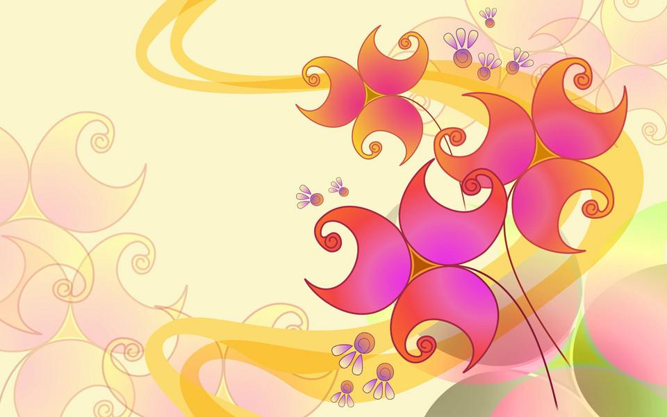 电脑壁纸 创意壁纸 手绘鲜花精美桌面壁纸下载   (16/20) 小箭头图标