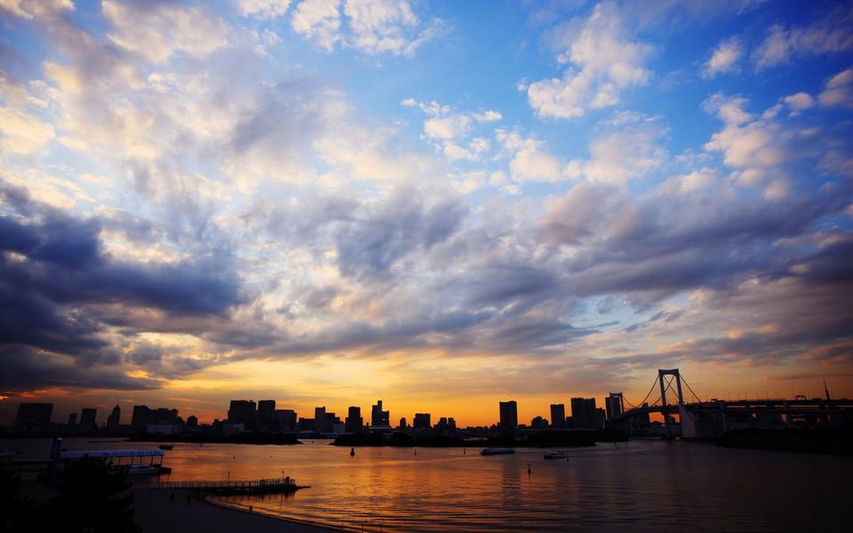 夕阳风景宽屏桌面壁纸