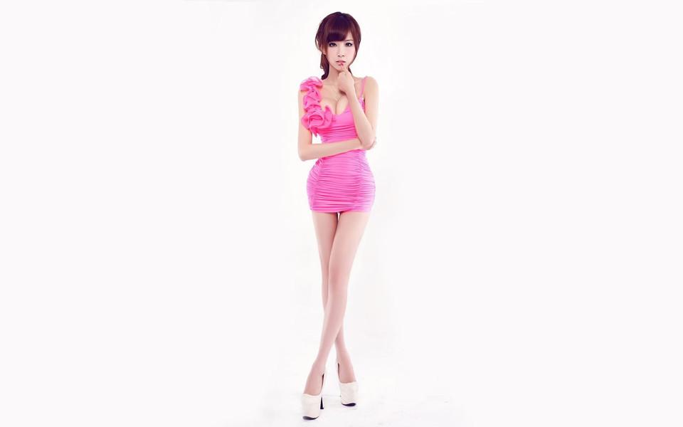 叶梓萱长腿美女模特写真壁纸