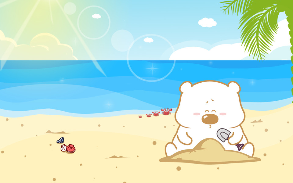 小囧熊超可爱平板电脑壁纸(二)