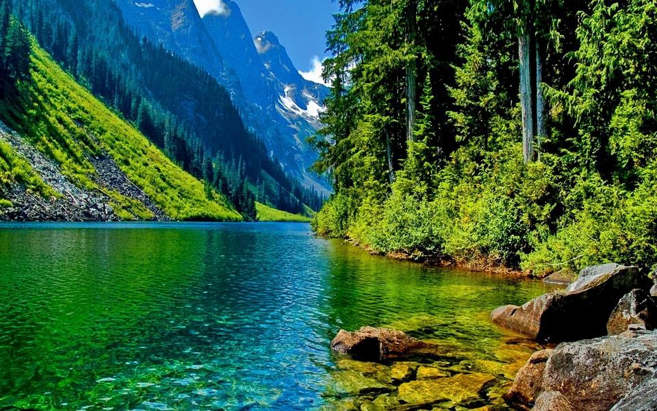 电脑壁纸 自然风景壁纸 深山峡谷大图风景壁纸下载