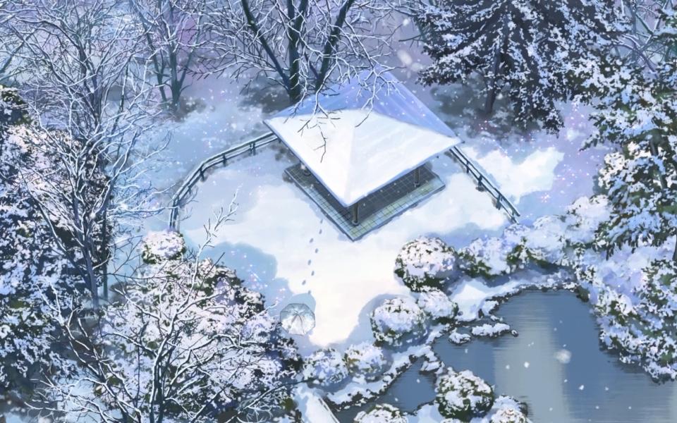 电脑壁纸 动漫壁纸 新海诚《言叶之庭》唯美动漫壁纸下载