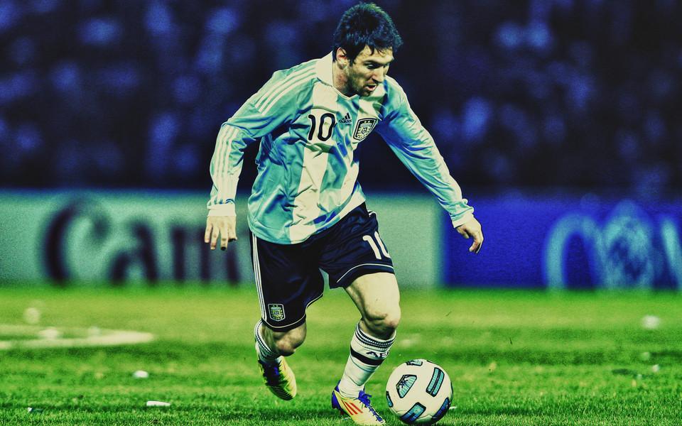 世界杯梅西阿根廷电脑壁纸