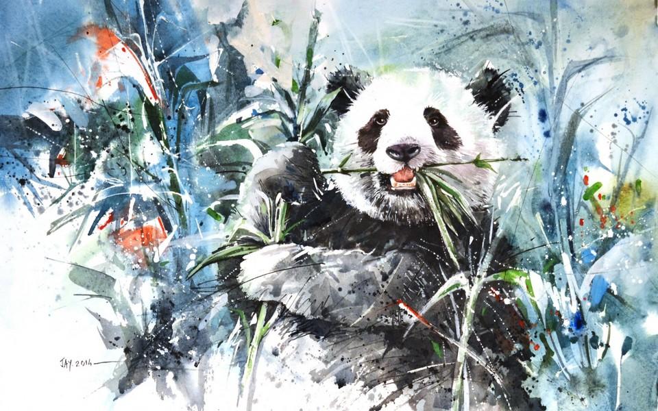 笔记本壁纸 动物壁纸 国宝熊猫可爱高清壁纸下载