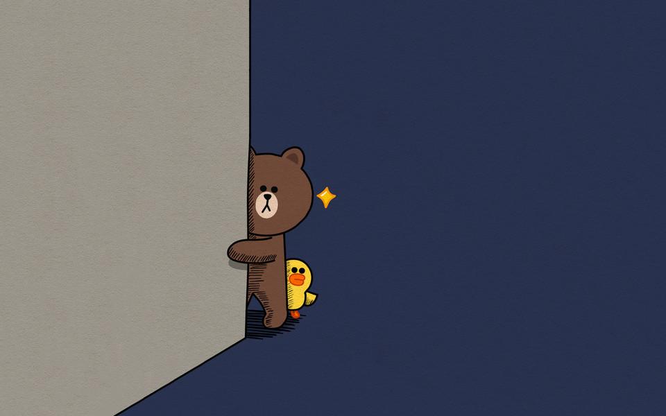 电脑壁纸 卡通壁纸 布朗熊可妮兔小黄鸡桌面壁纸下载