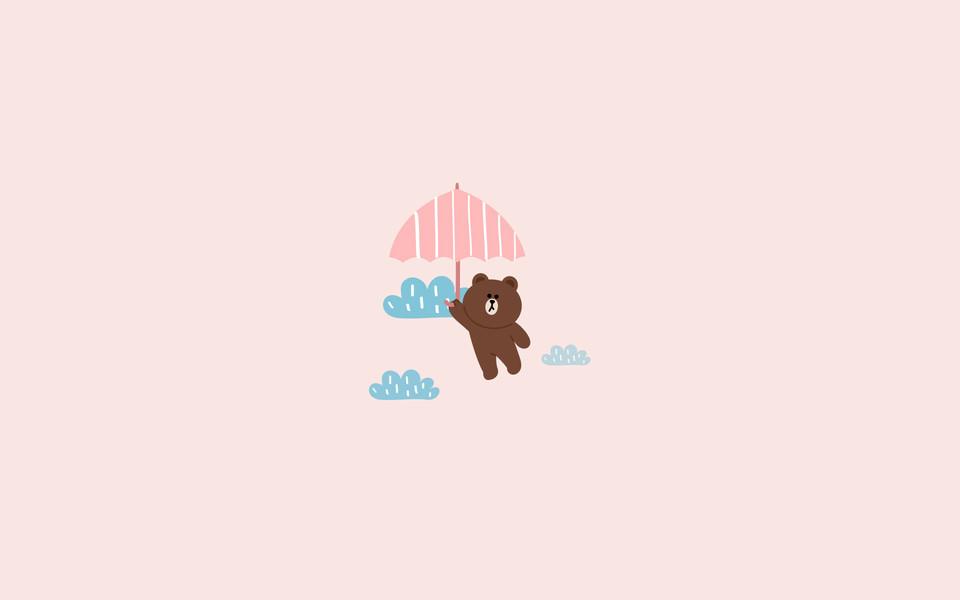 布朗熊可妮兔小黄鸡桌面壁纸