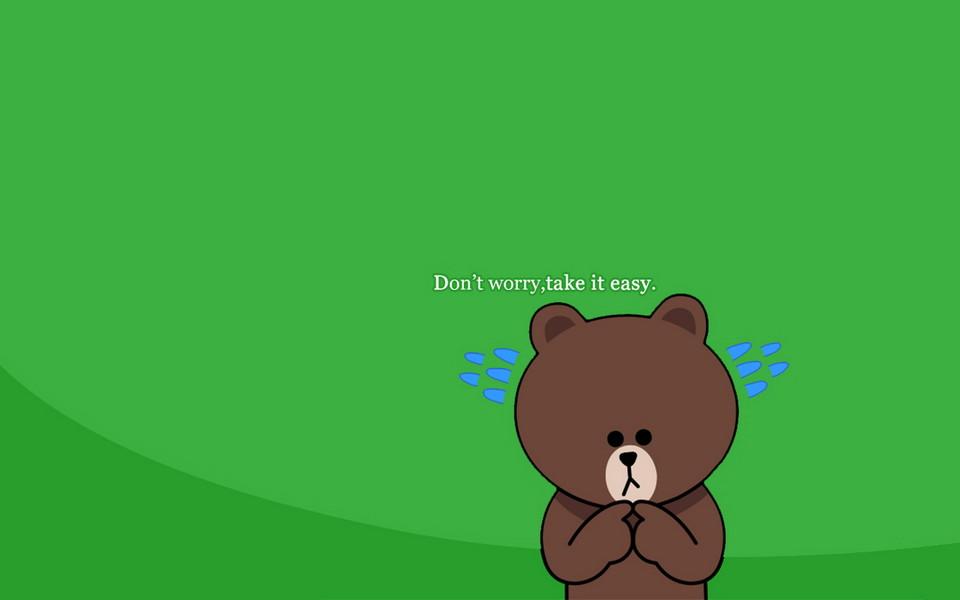布朗熊可妮兔小黃雞桌面壁紙