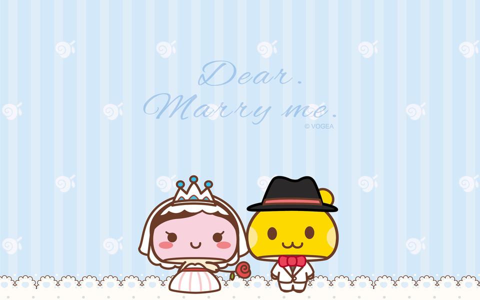mogoo蘑菇点点现代浪漫婚礼ipad壁纸