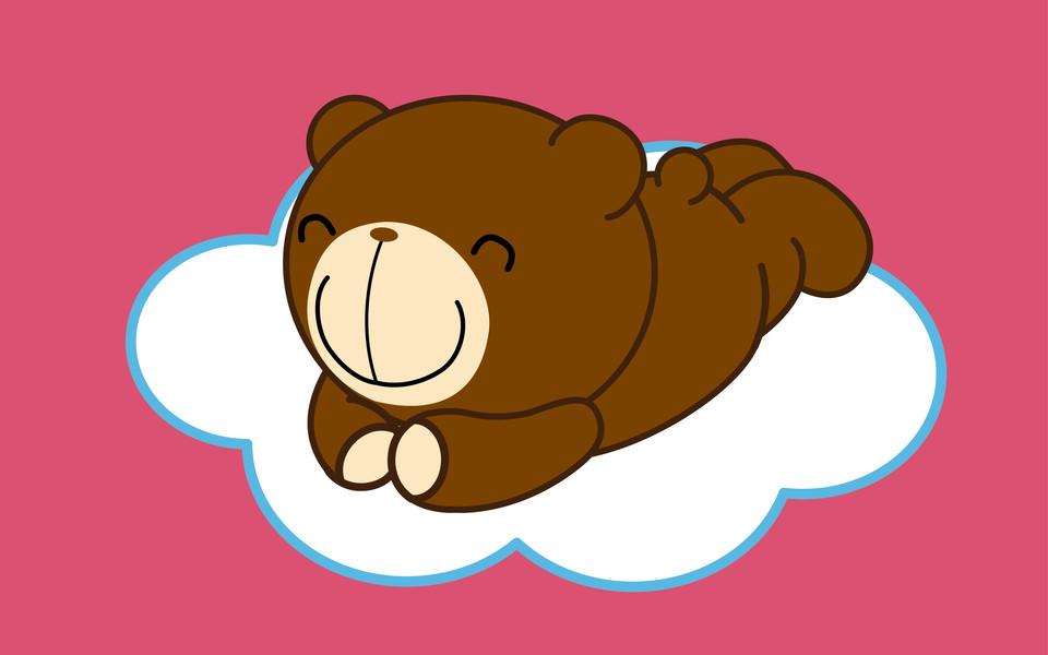 巧克力熊272°笑容桌面壁纸
