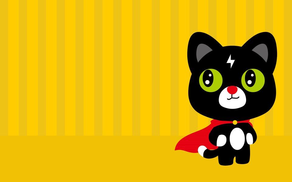 电脑壁纸 卡通壁纸 闪电猫呆萌壁纸下载   闪电猫呆萌壁纸-超人