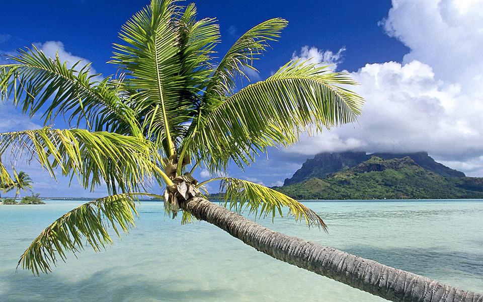 热带岛屿海滩风景ipad壁纸