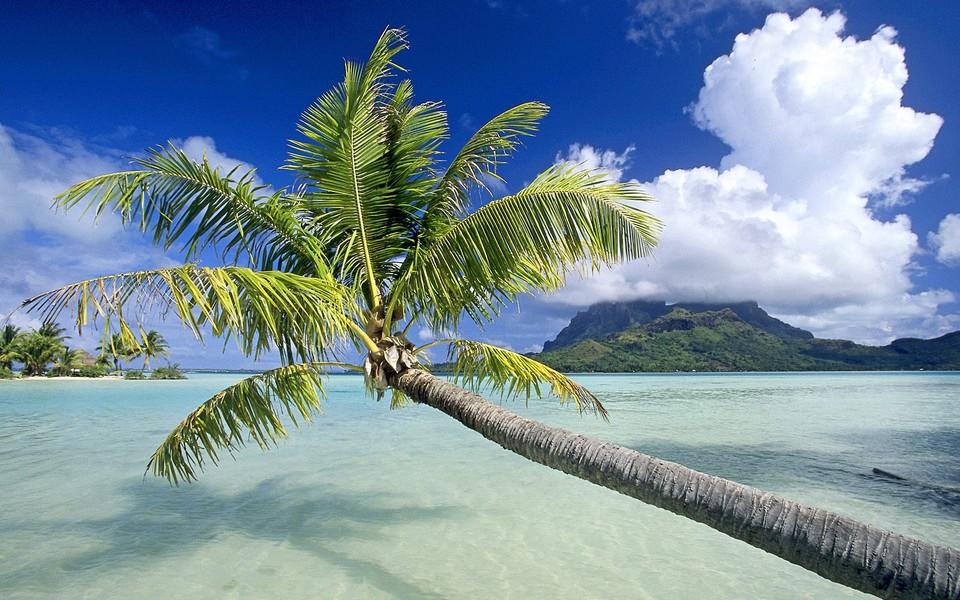 电脑壁纸 海滩壁纸 热带岛屿海滩高清风景壁纸下载