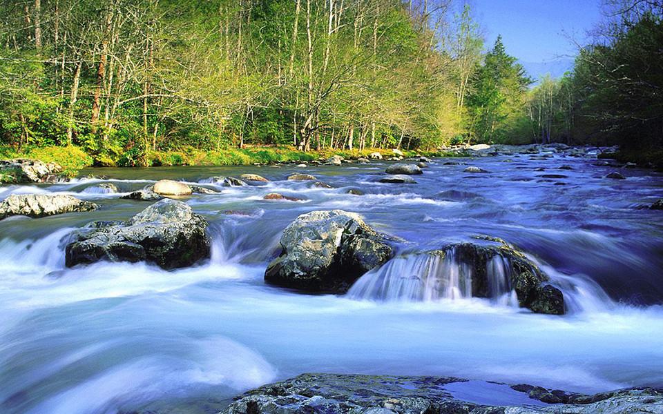 ipad壁纸 自然风景壁纸 溪水河流高清ipad壁纸下载   壁纸下载: 1024x
