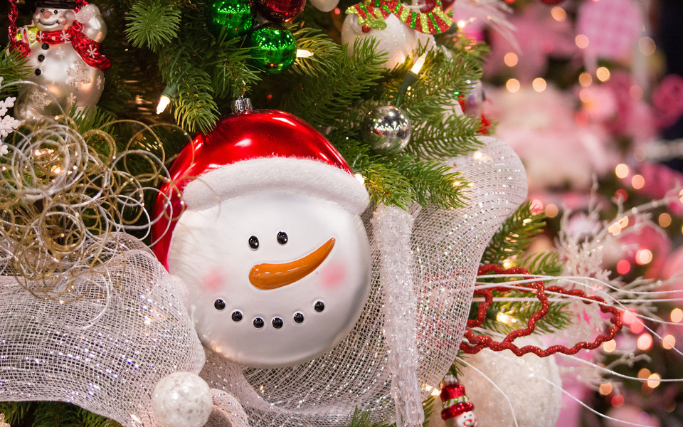 可爱圣诞小摆件桌面壁纸