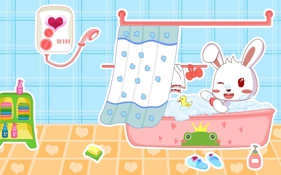 可爱兔小贝卡通桌面壁纸