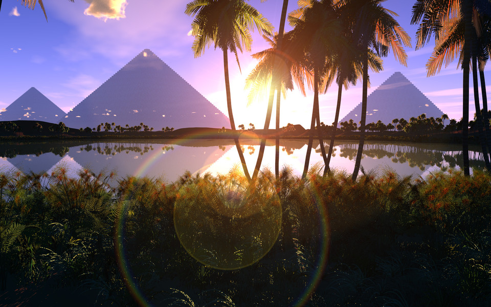 金字塔主题高清电脑壁纸